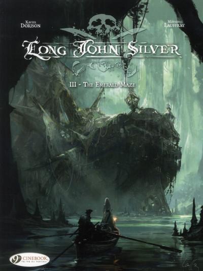 Couverture Long John Silver tome 3 - the emerald maze - en anglais