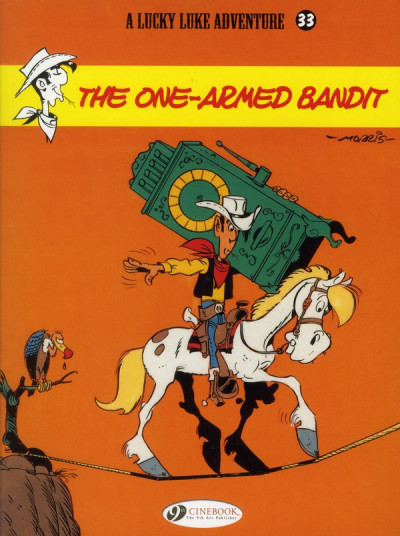 Couverture Lucky luke tome 33 - the one-armed bandit (en anglais)