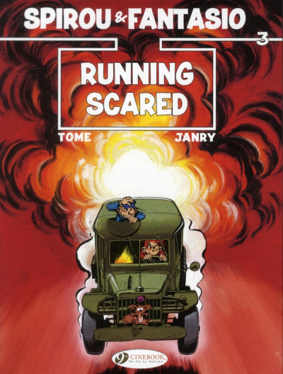 Couverture Spirou and fantasio tome 3 - running scared - en anglais