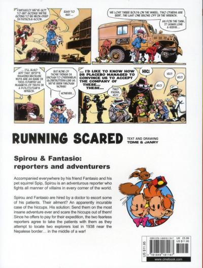 Dos Spirou and fantasio tome 3 - running scared - en anglais