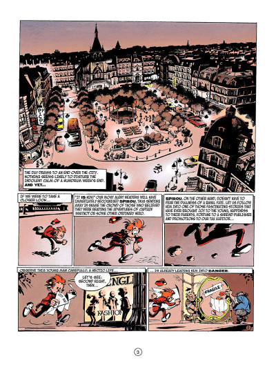 Page 2 Spirou and fantasio tome 3 - running scared - en anglais