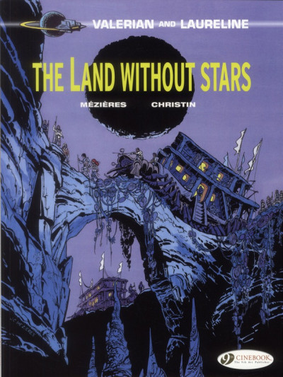Couverture Valerian tome 3 - the land without stars - en anglais