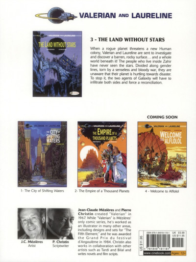 Dos Valerian tome 3 - the land without stars - en anglais