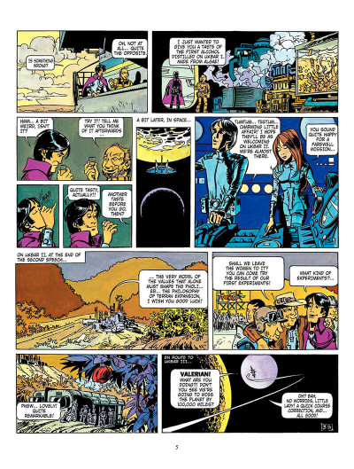 Page 4 Valerian tome 3 - the land without stars - en anglais