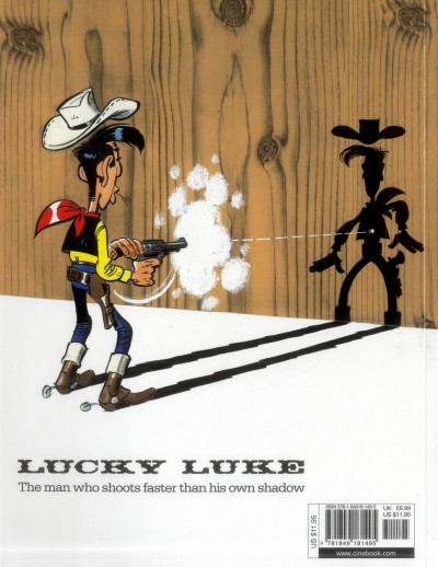 Dos Lucky luke tome 39 - the man from washington (en anglais)