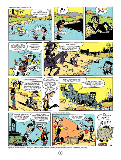 Page 3 Lucky luke tome 41 (en anglais)