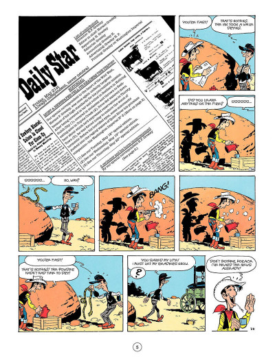Page 4 Lucky luke tome 41 (en anglais)