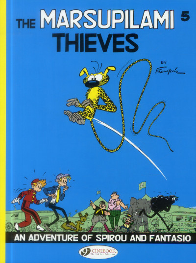 Couverture Spirou and Fantasio tome 5 - the Marsupilami thieves