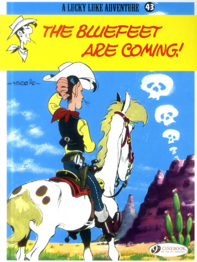 Couverture Lucky Luke tome 43 - the Bluefeet are coming! (en anglais)