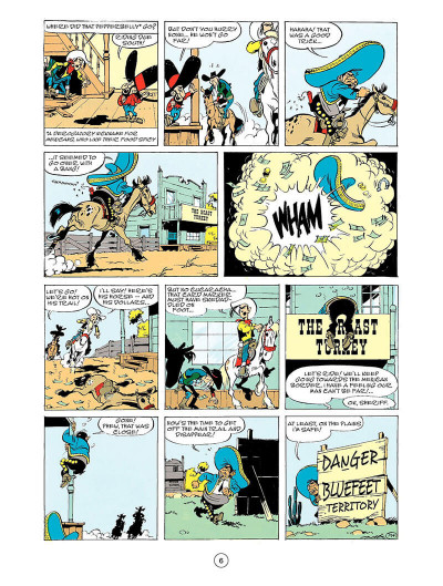 Page 5 Lucky Luke tome 43 - the Bluefeet are coming! (en anglais)