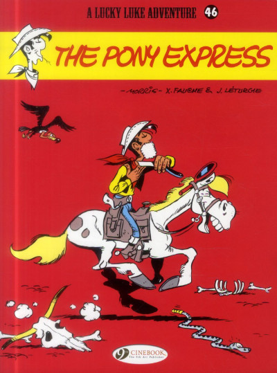Couverture Lucky Luke tome 46 - the pony express