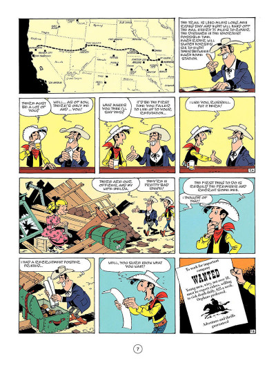 Page 6 Lucky Luke tome 46 - the pony express