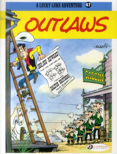 Couverture Lucky luke tome 47 - outlaws