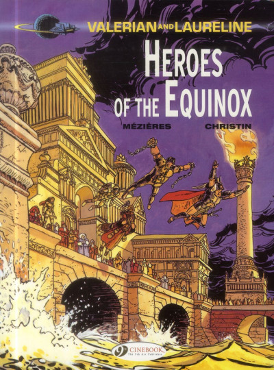 Couverture Valerian and Laureline tome 8 - heroe of the equinox