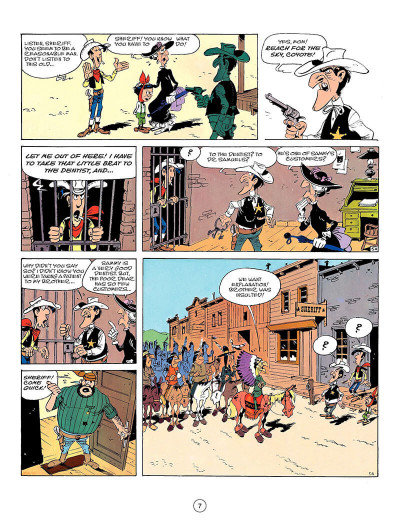 Page 6 Lucky Luke en anglais tome 50 - Seven stories