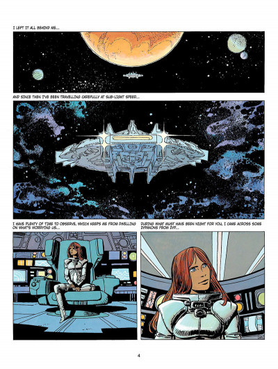 Page 3 Valerian tome 9 - Châtelet station, destination Cassiopeia (en anglais)