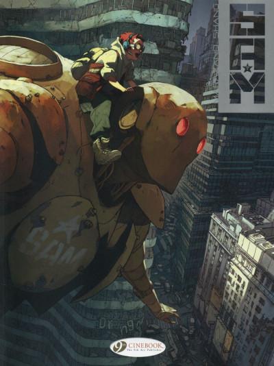 Couverture SAM tome 2 - robot hunters (en anglais)