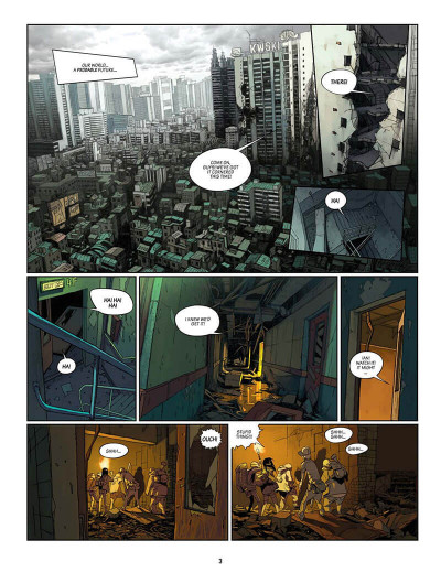 Page 4 SAM tome 2 - robot hunters (en anglais)