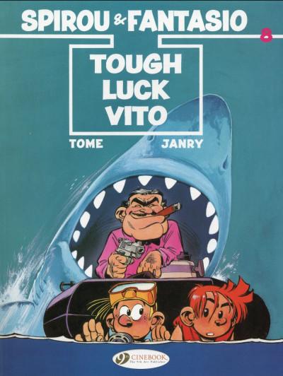 Couverture Spirou and Fantasio tome 8 - tough luck Vito