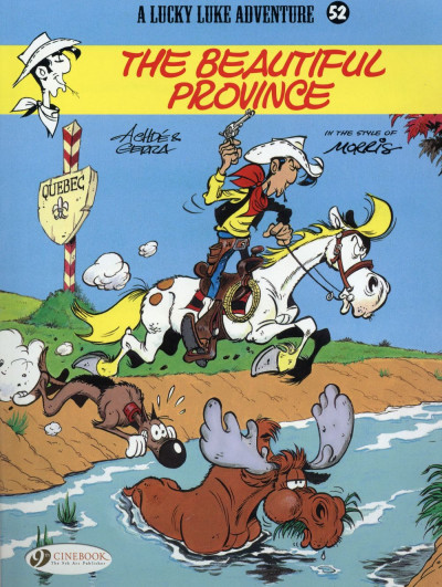 Couverture Lucky Luke tome 52 - the beautiful province