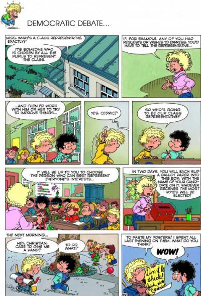 Page 1 Cedric tome 5 (en anglais)