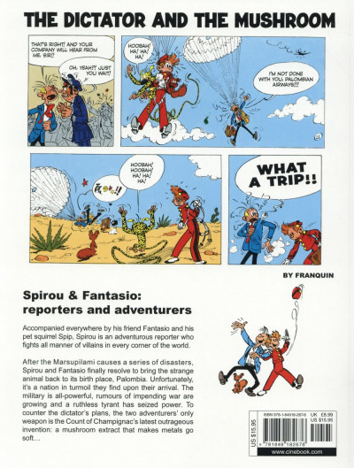 Dos Spirou and Fantasio tome 9 - The dictator and the mushroom