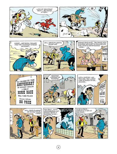 Page 3 Lucky Luke tome 56 - en anglais
