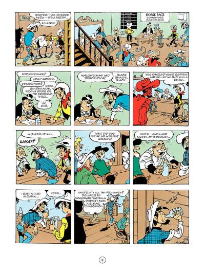 Page 4 Lucky Luke tome 56 - en anglais