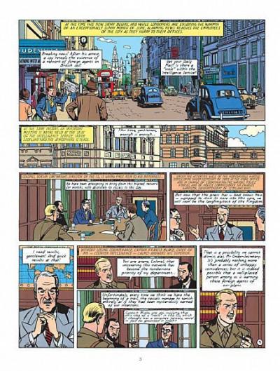 Page 1 Blake and Mortimer tome 4 (en anglais)