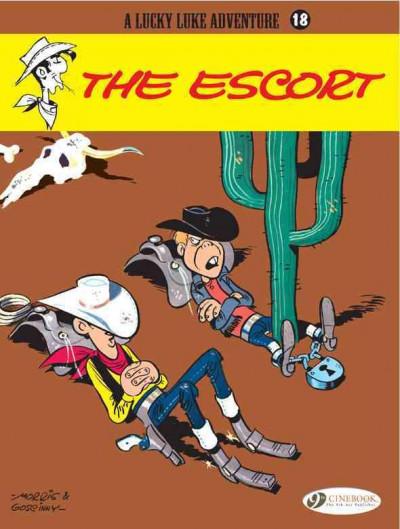 Couverture Lucky luke tome 18 - the escort (en anglais)