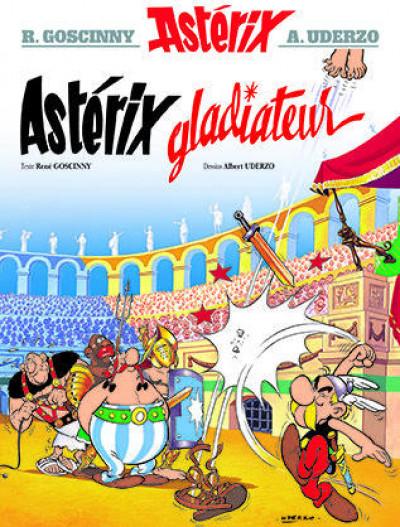 Couverture Astérix tome 4 - astérix gladiateur