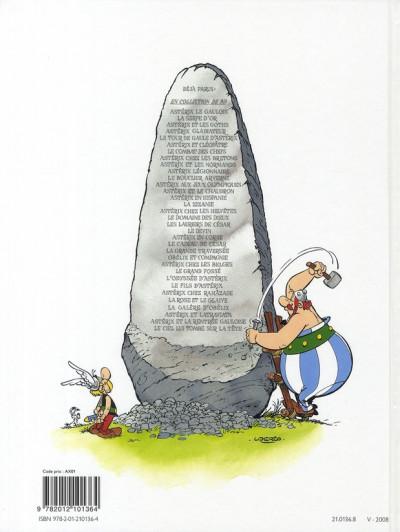 Dos Astérix tome 4 - astérix gladiateur