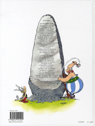 Dos Astérix tome 8 - astérix chez les bretons
