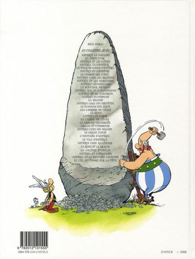 Dos Astérix tome 23 - obélix et compagnie