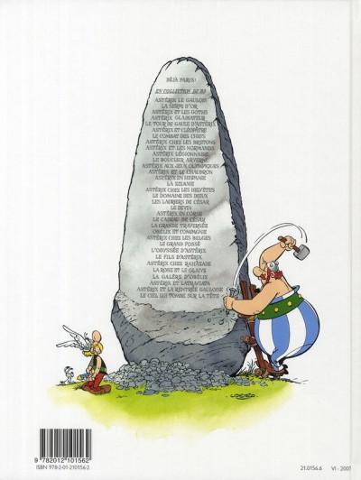 Dos Astérix tome 24 - astérix chez les belges