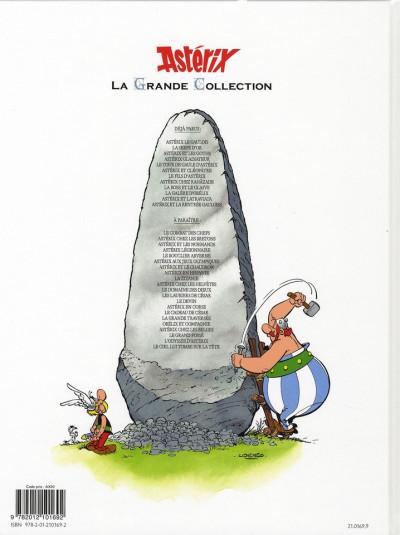 Dos Astérix tome 6 grande collection - astérix et cléopâtre