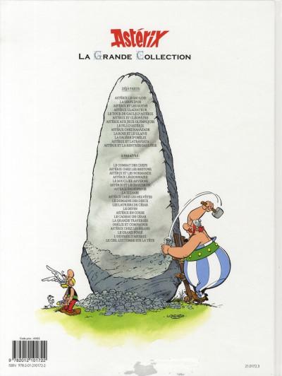 Dos Astérix tome 12 grande collection - astérix aux jeux olympiques