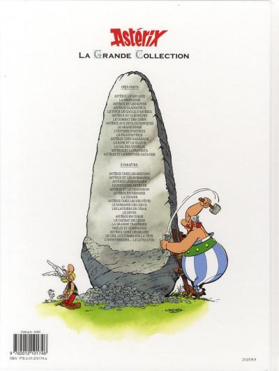 Dos Astérix tome 7 grande collection - le combat des chefs