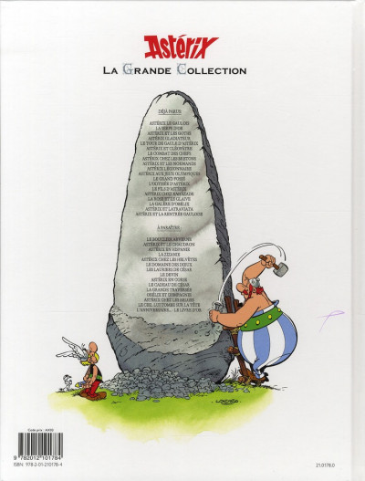 Dos Asterix tome 10 grande collection - légionnaire