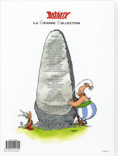 Dos Astérix tome 11 grande collection - le bouclier arverne