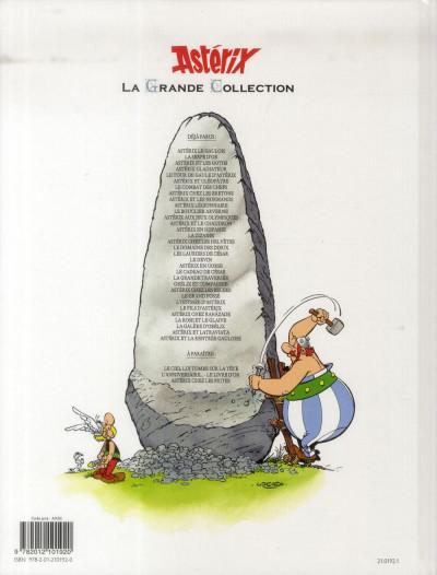 Dos Astérix tome 23 grande collection - Obélix et compagnie
