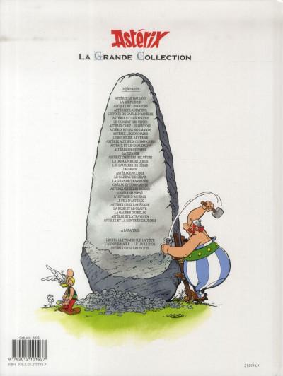 Dos Astérix tome 24 grande collection - Astérix chez les les Belges