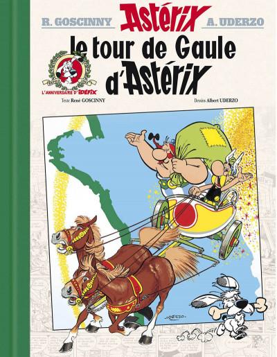 Couverture Astérix - édition de luxe tome 5 - le tour de Gaule
