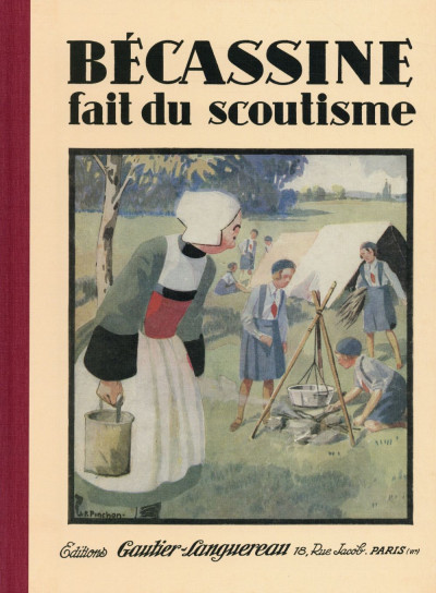 Couverture Bécassine fait du scoutisme (nouvelle édition 2015)