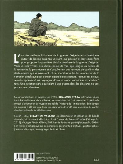 Dos Histoire dessinée de la guerre d'Algérie