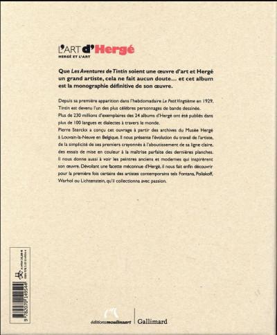 Dos L'art d'Hergé