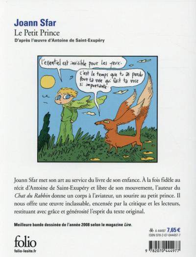 Dos Le petit prince