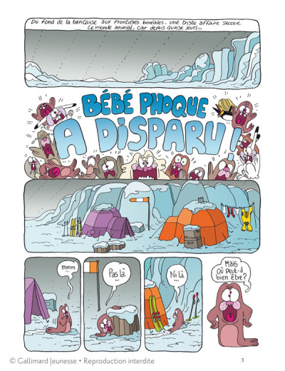 Page 1 Borgnol tome 2 - bébé phoque a disparu !