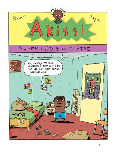 Page 3 Akissi tome 2 - super-héros en plâtre
