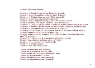 Page 5 Tatane - Pour un football durable et joyeux